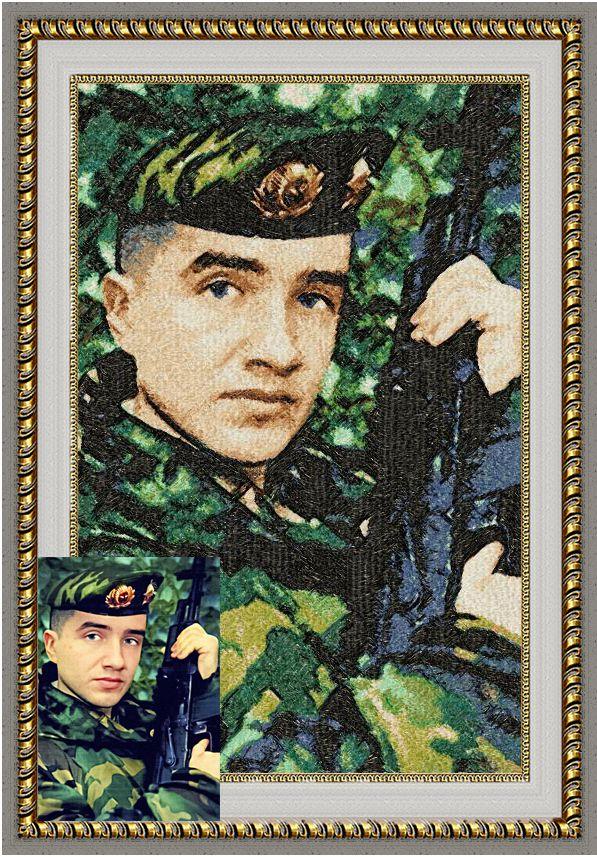вышивка по мужчине 23февраля вышитый портрет фото