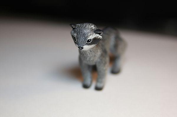 акрил звери sculpey пластик животные подарки енот