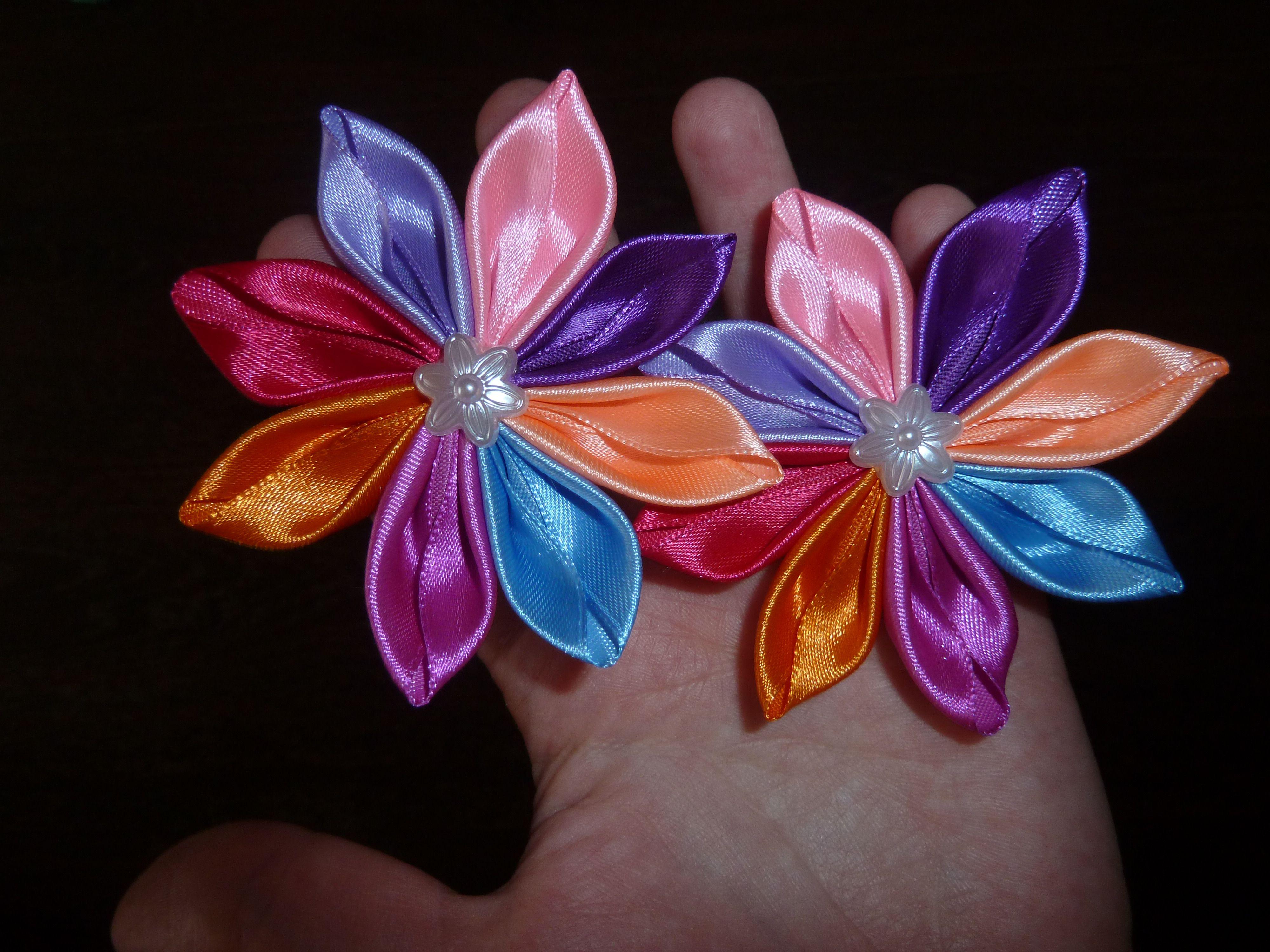 резинки ленты праздник канзаши цветы