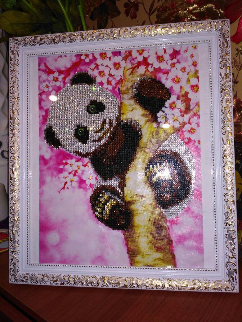 детская картина панда комната