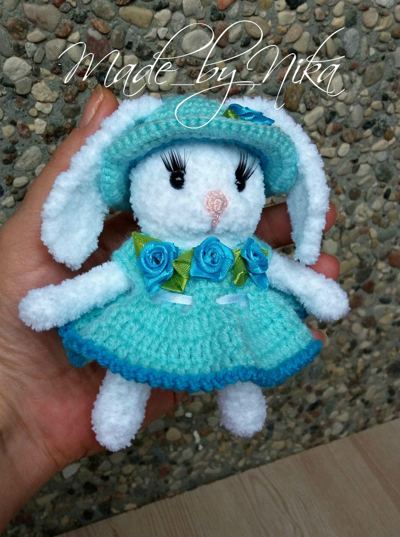 заяц handmade вязание ручная игрушка зайка made_by_nika заказ для крючком детей работа подарок