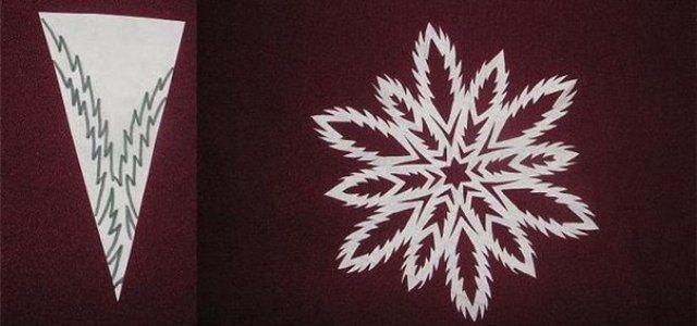 Снежинки из бумаги своими руками 6