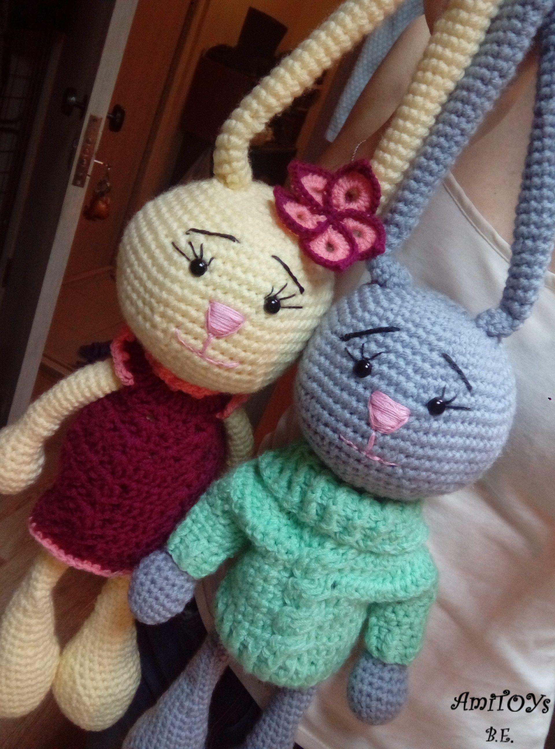 игрушка детям заяц мягкая handmade вязаная ручной крючком