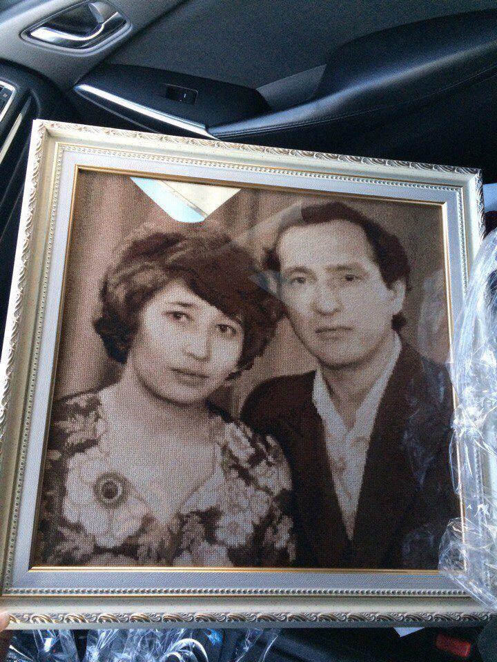ручнаяработа эксклюзив картина вышивка интерьер портретпофото портрет своимируками