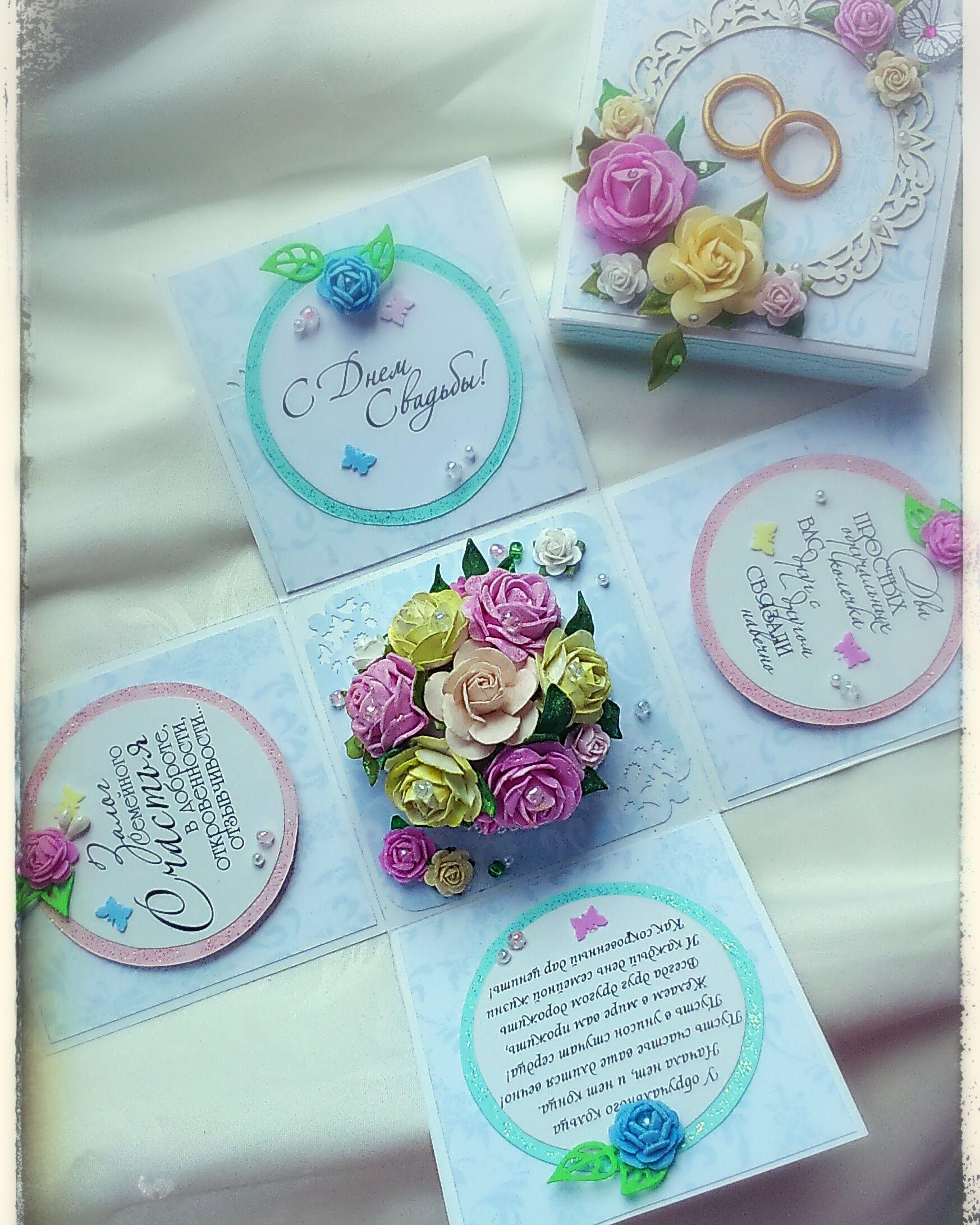 свадьба подарок открытка