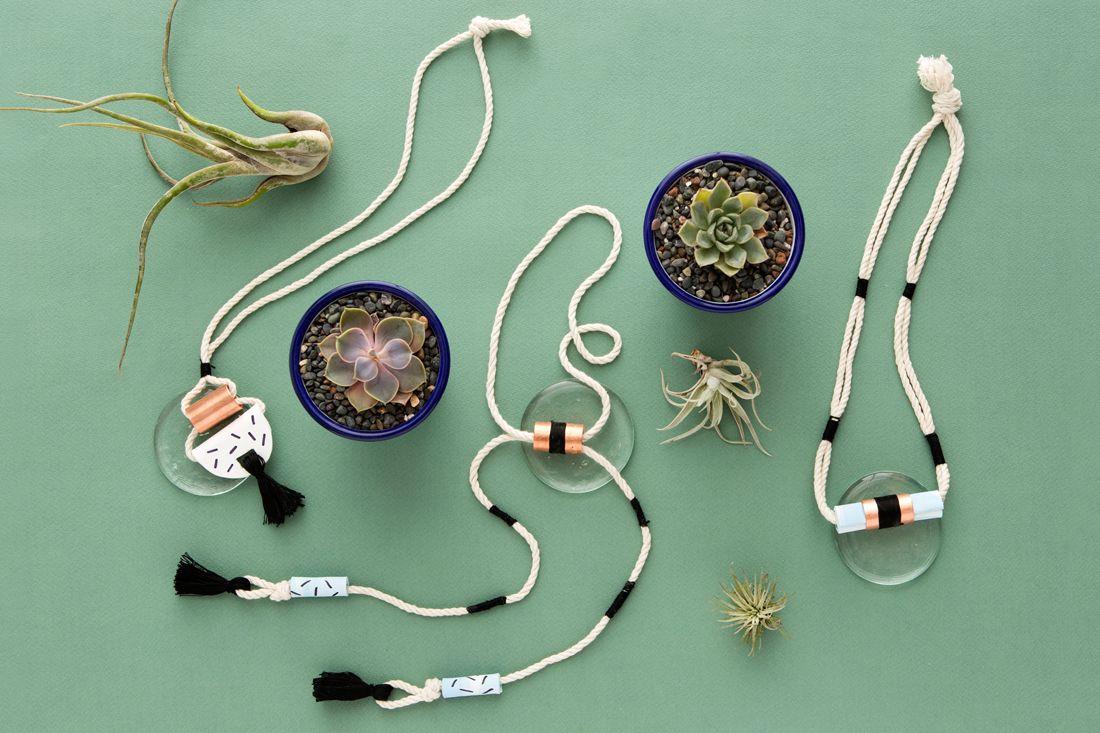 кулон идеи ожерелье медные трубки подарков украшение сделай сам подарок