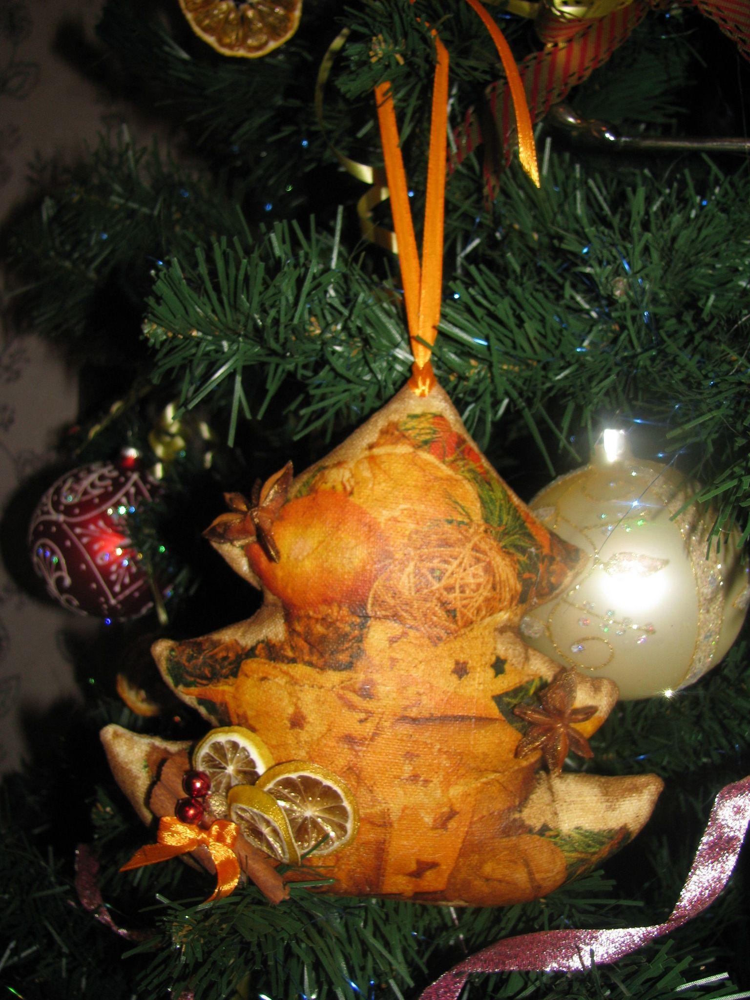 декупаж чердак новогоднее уют корица кофе пряник подарок