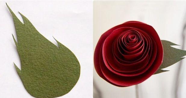Розы из бумаги своими руками 5