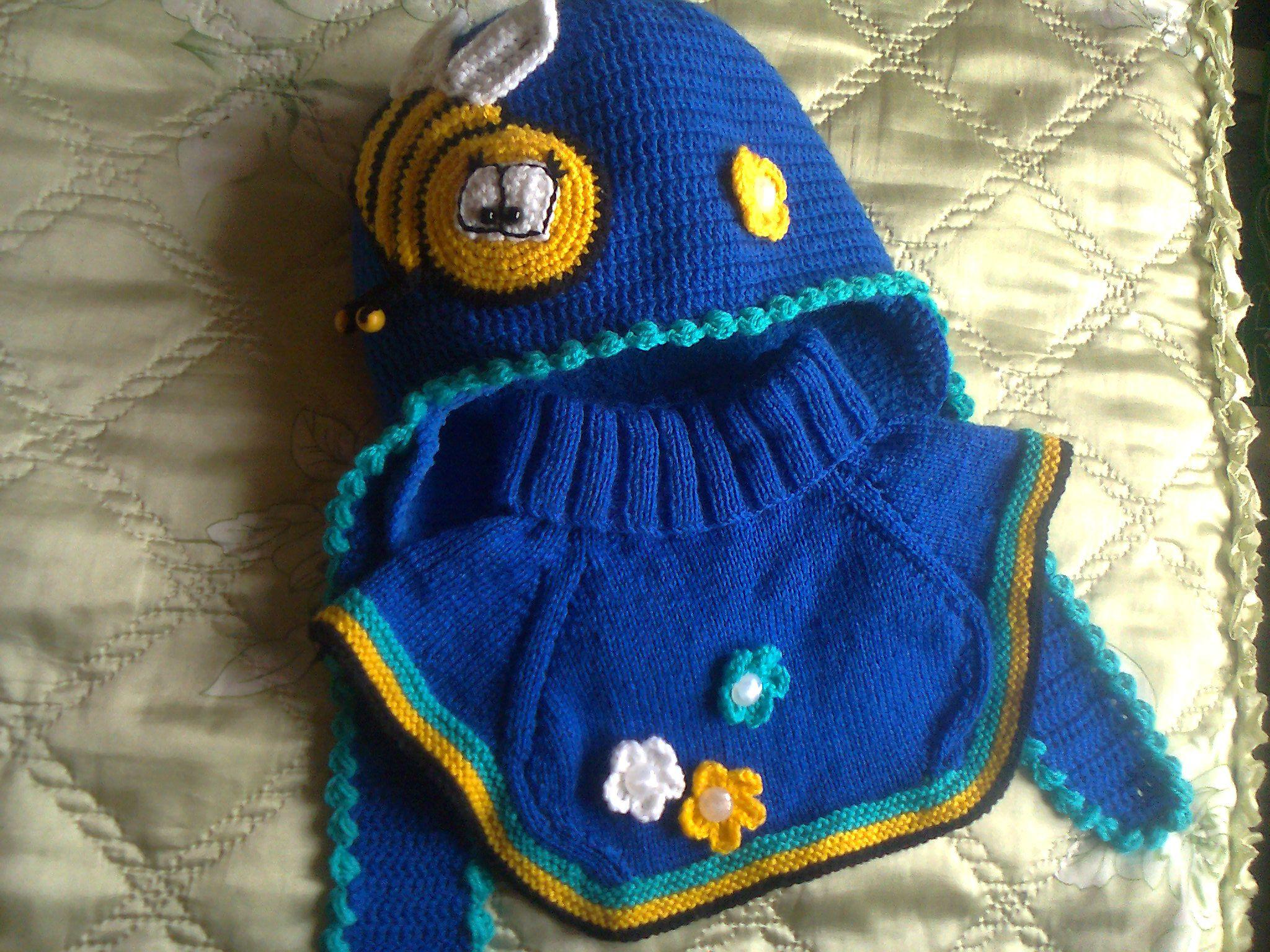 манишка пчелка зима шапка