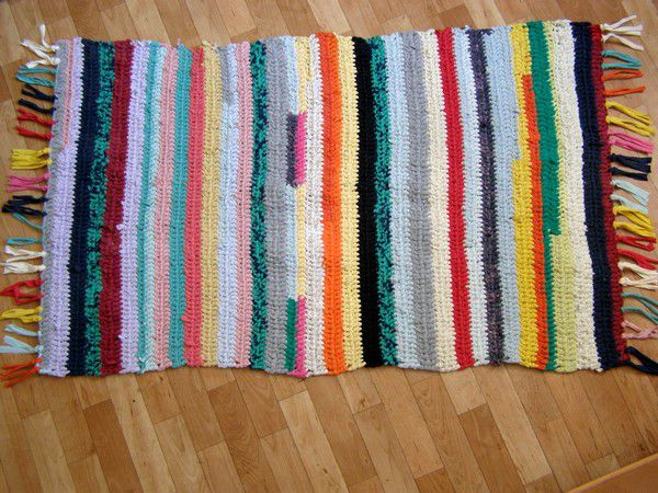 половик коврик трикотаж плетение