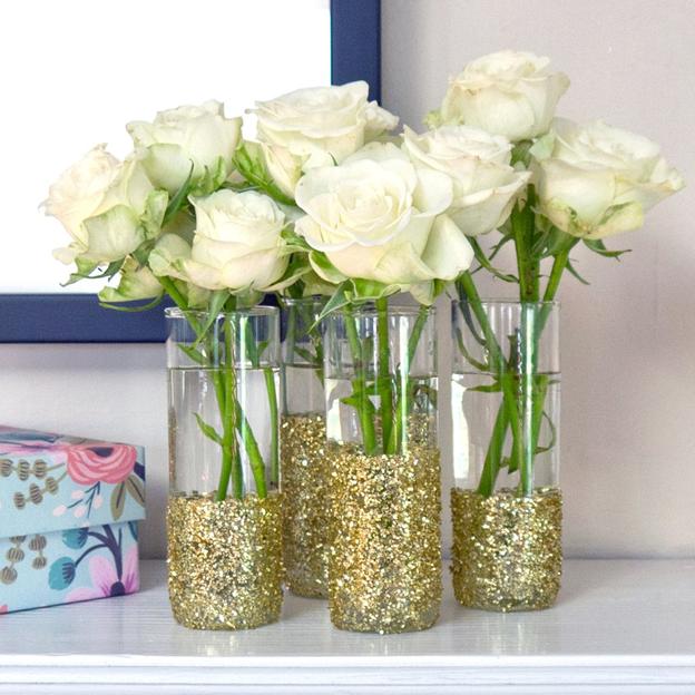 руками из свадьбы вазы декор для ваза стакана своими
