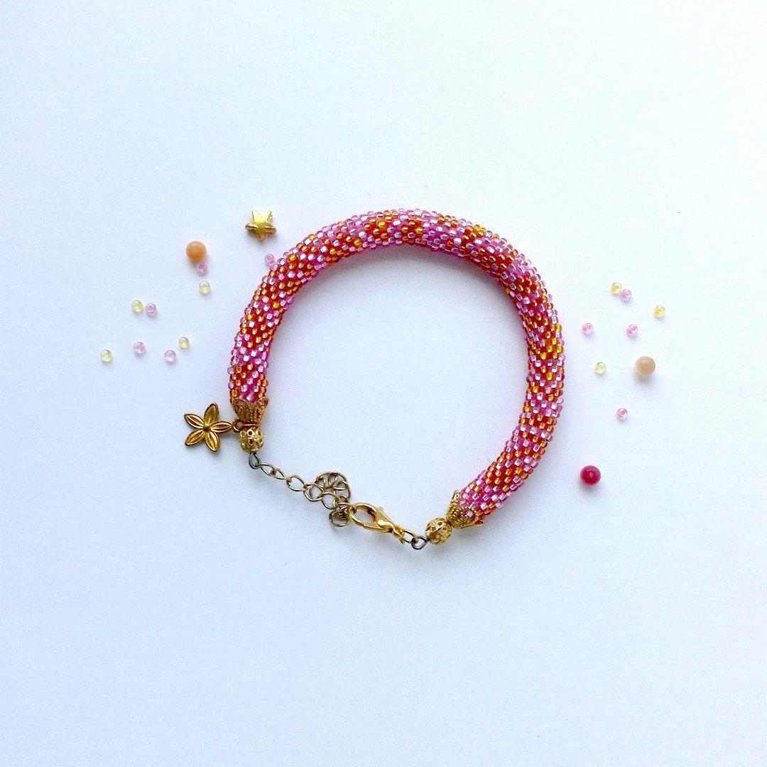 бисер браслет handmade украшения крючком бижутерия