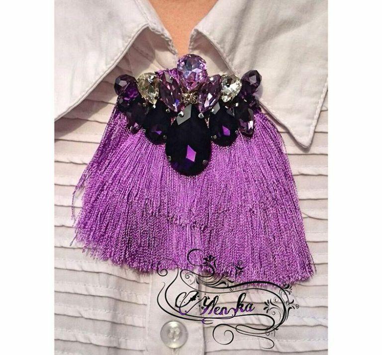 колье брошь кристаллы стиль украшения ручнаяработа браслет мода