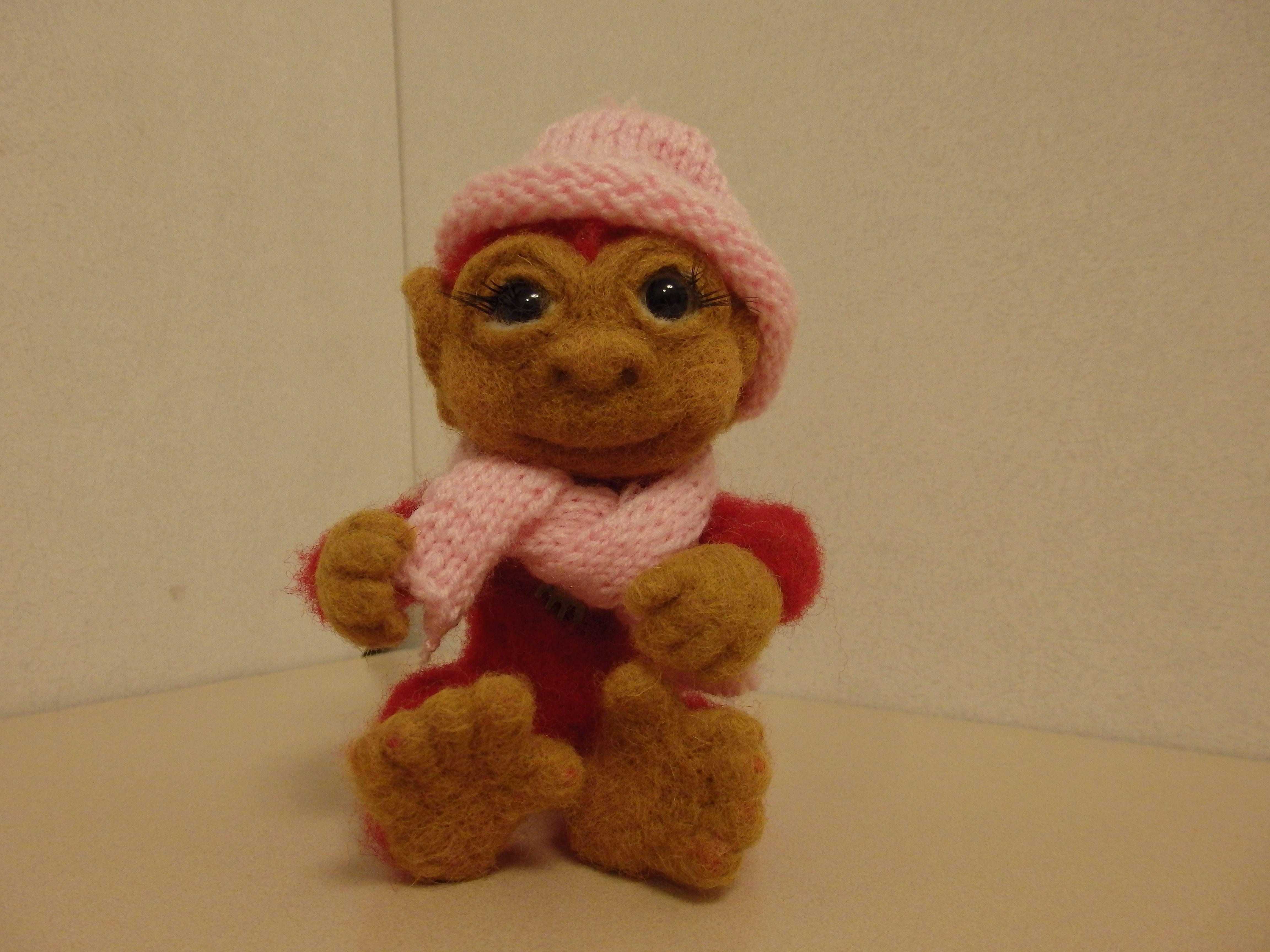мартышка обезьянахендмейдсувениризроссииигрушкаизшерстиподарокваляниеработасухоеваляниеручнаяёжик малышка обезьянка