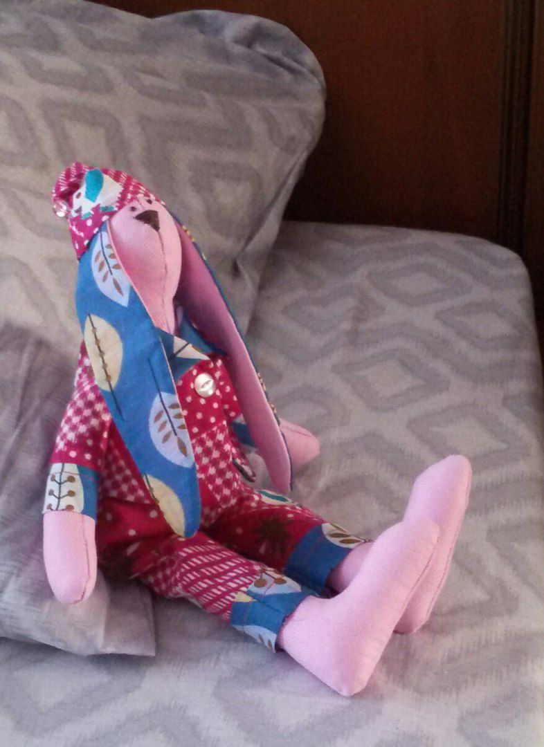 подарок дети ребенок текстиль тильда зайка