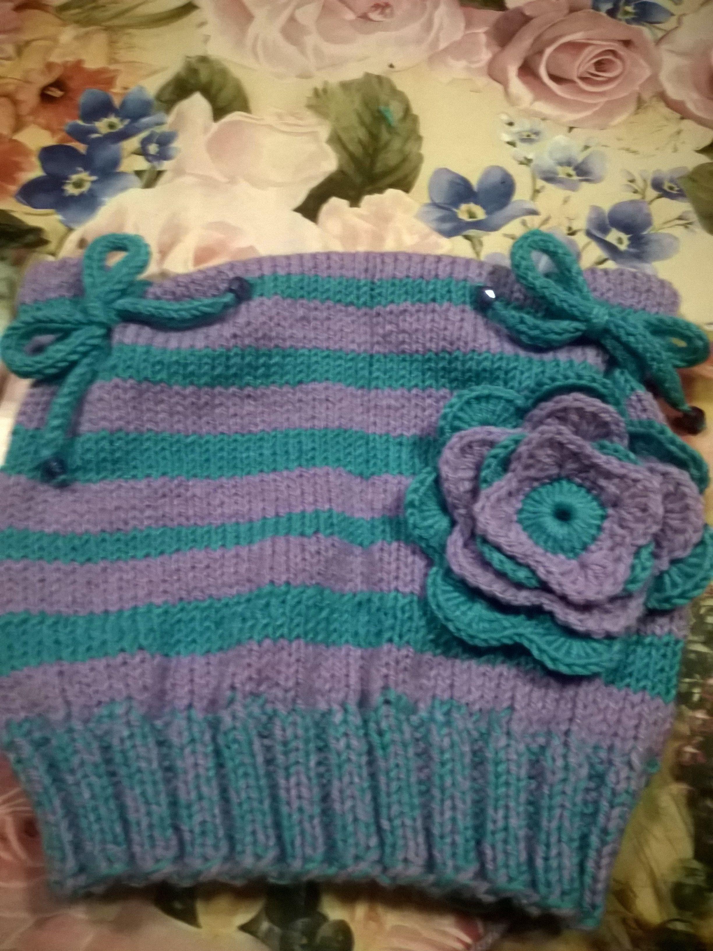 вязанная шапка шерсть ручная взрослая осень теплая детская