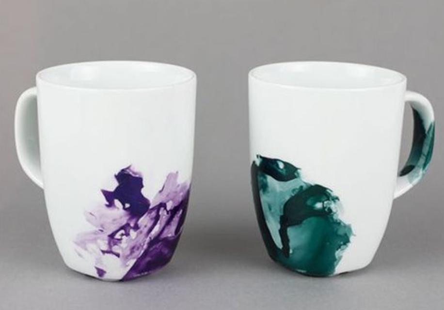 лак подарок креатив идеяподарка лакдляногтей мрамор идея чашка покраска