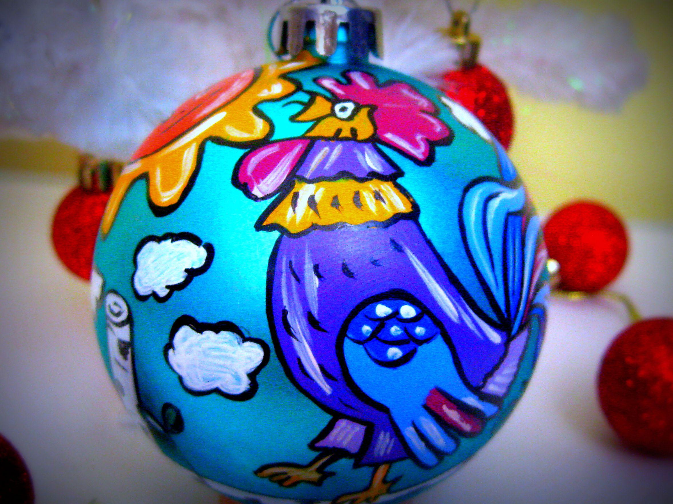 елочныеигрушки елочныеукрашения символгода новыйгод петушок праздник елка2017 елочныйшар