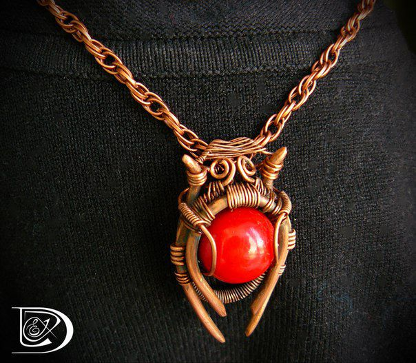 колье кулон медь красота handmade кулонназаказ фараон jewel wirewrap подарок