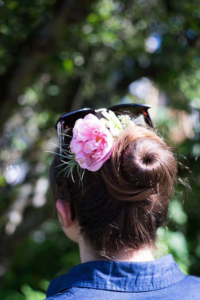 флора прическа волосы украшение аксессуары цветы