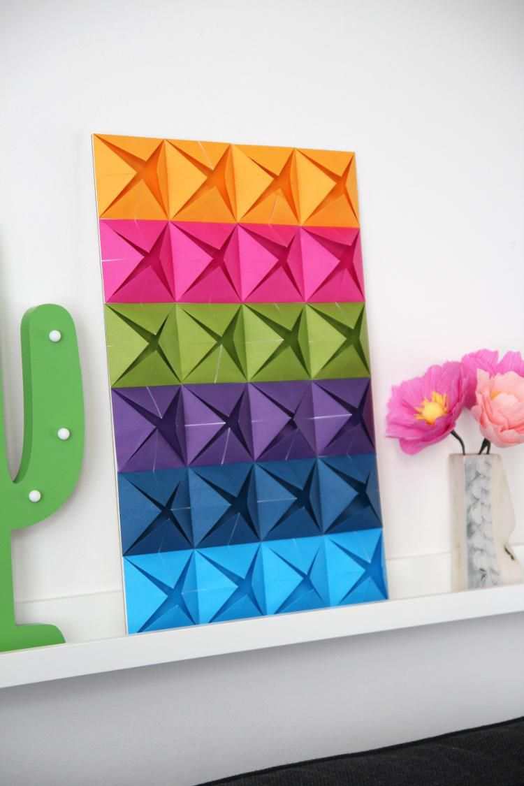 бумаги мастеркласс панно интерьер из оригами