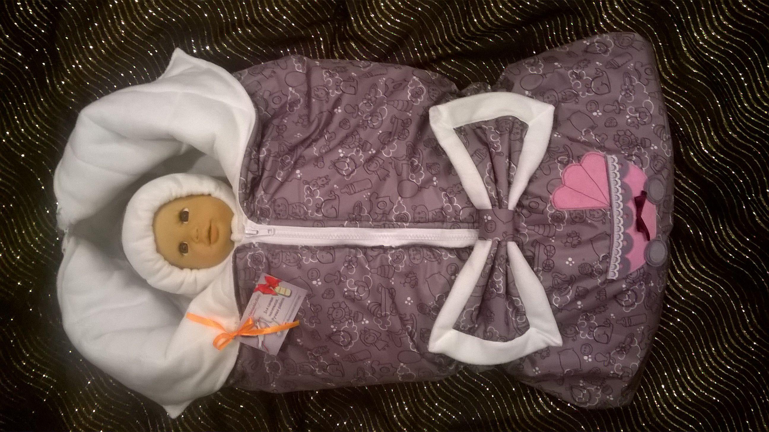 одеялко новорожденному конверт