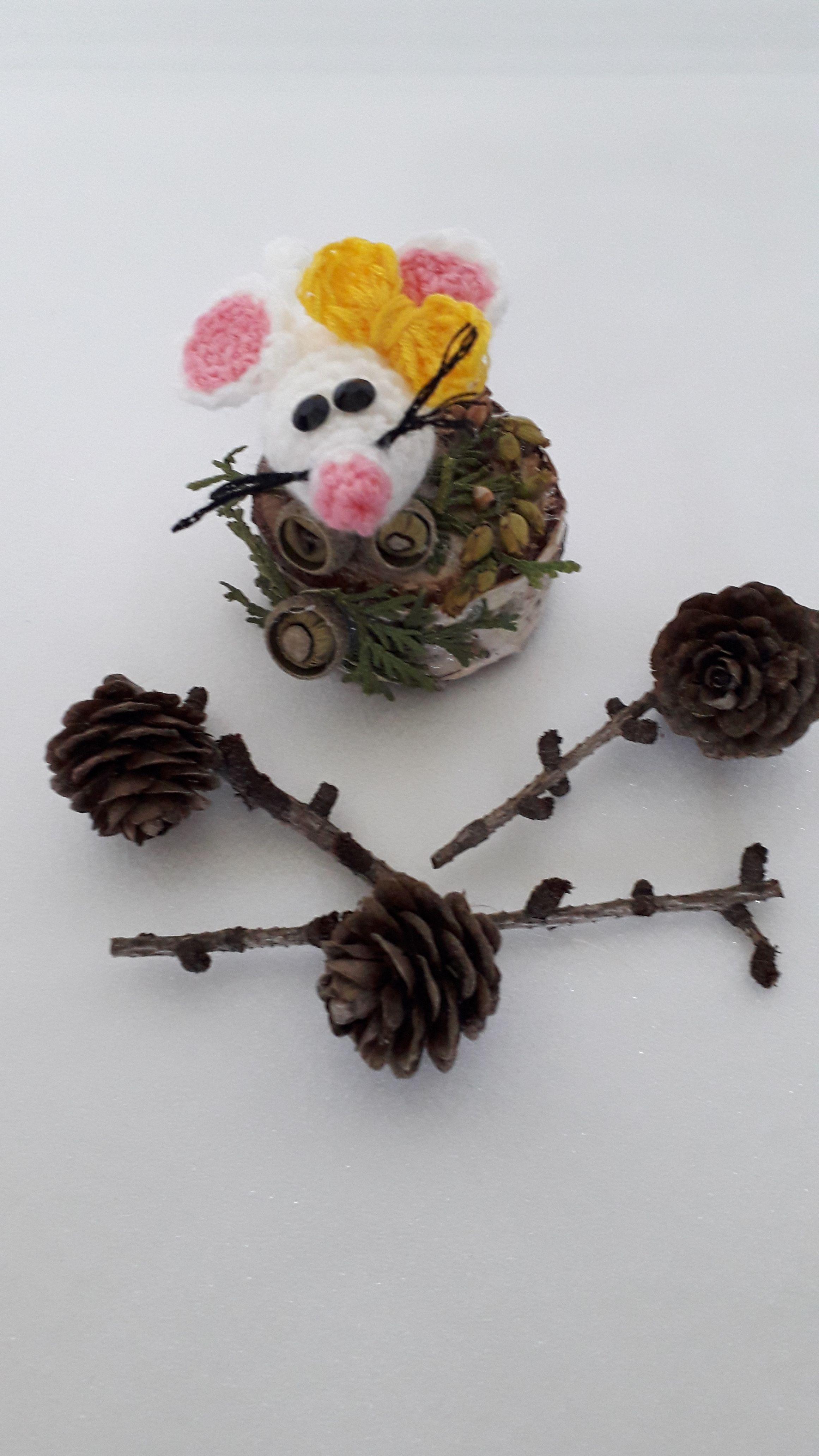 ручнаяработа мышки рождество длядома новыйгод сувенир мышь игрушка подарок