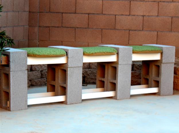 скамейка шлакоблока быт из руками своими праздники