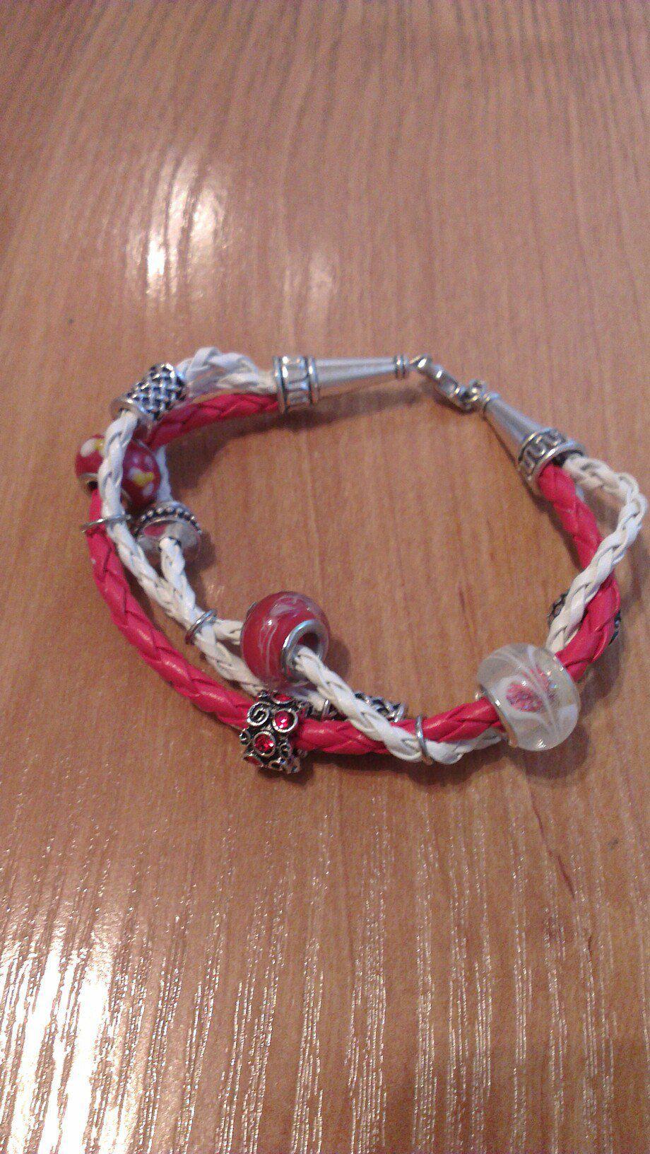 пандорра назастежке шнуры бусины плетение браслет
