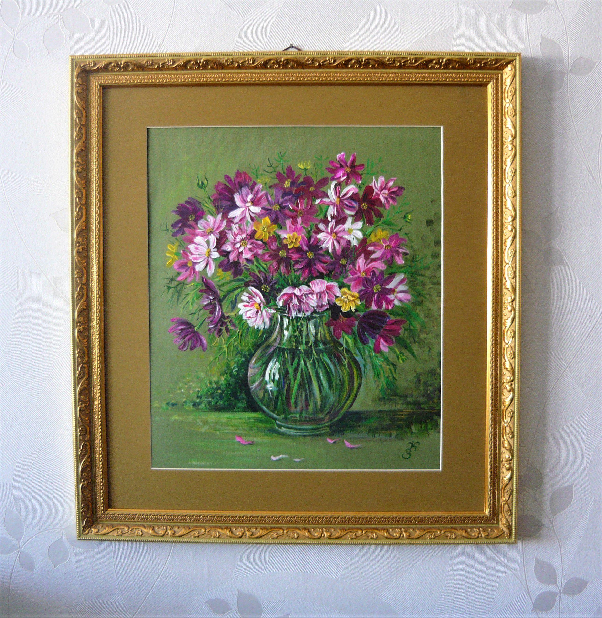подарок живопись картины цветы натюрморт