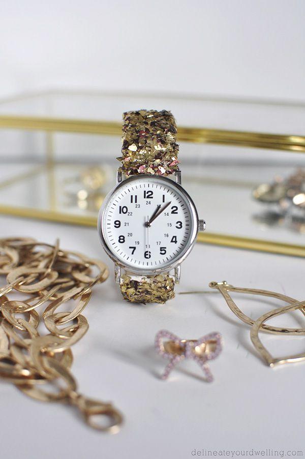 гламурный часов ремешок блестки браслет для руками своими
