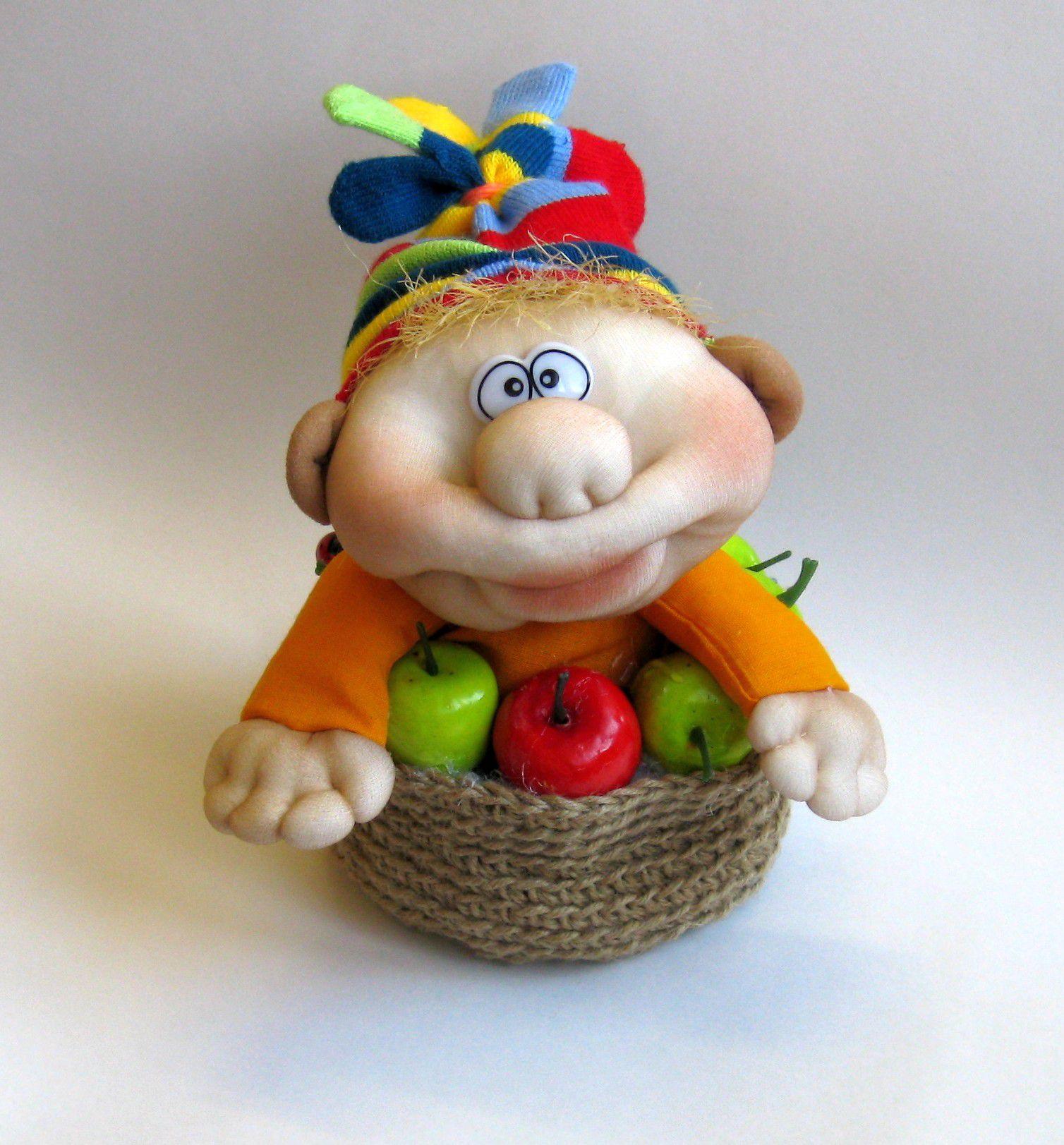 интерьерная интерьера оберег подарка на оранжевый гном игрушка дома веселый интересный удачу гномы сувениры идея домовой кукла работа домовенок ручная для сувенир яблоко и оригинальный подарки чулочная подарок гномик талисман