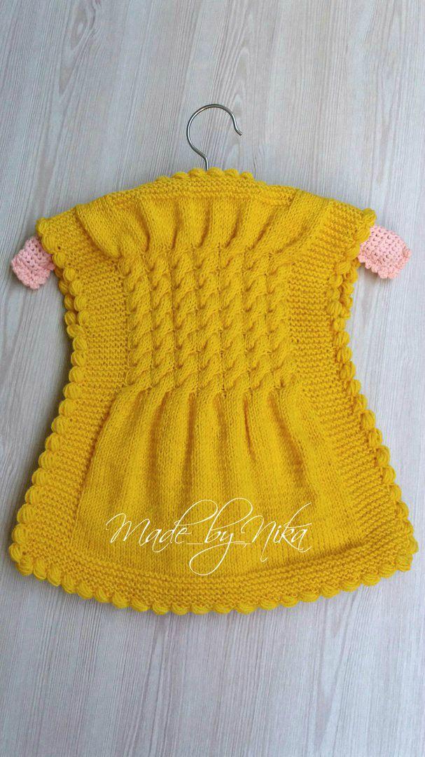 спицами кардиган детей жакет handmade жилет для ручная девочки заказ работа made_by_nika