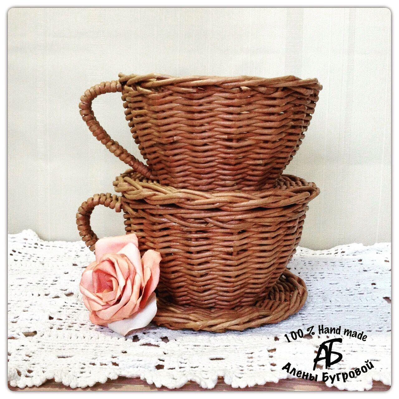конфетница плетение бумажные кухня ваза чаша трубочки бумага