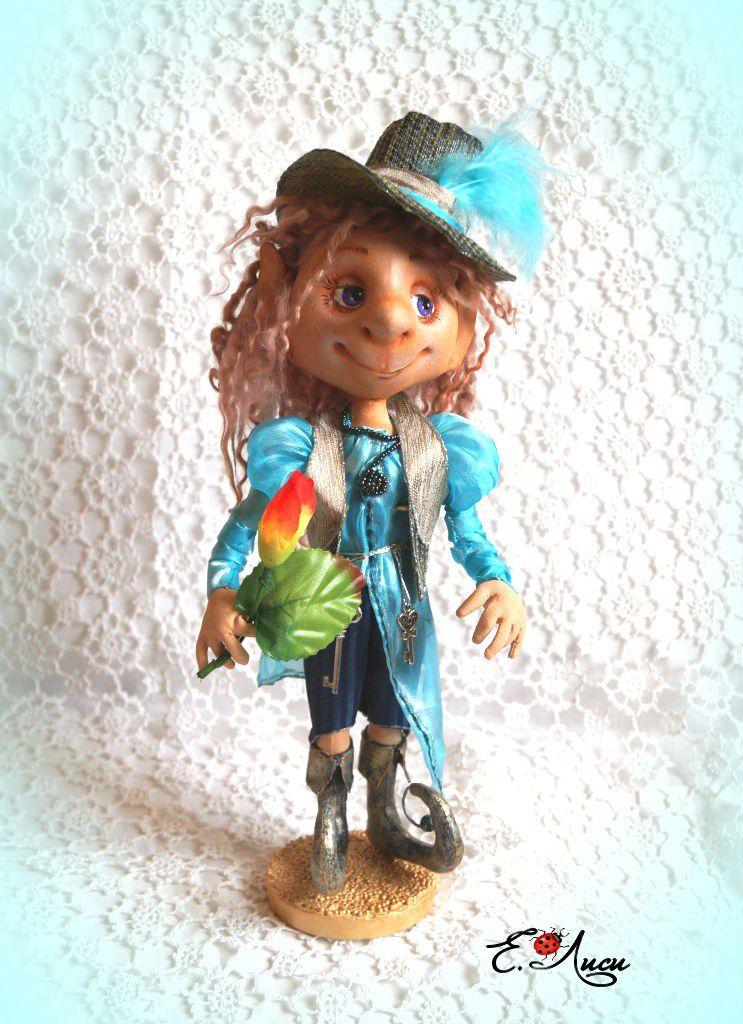 интерьерная подарок кукла работа коллекционная ручная