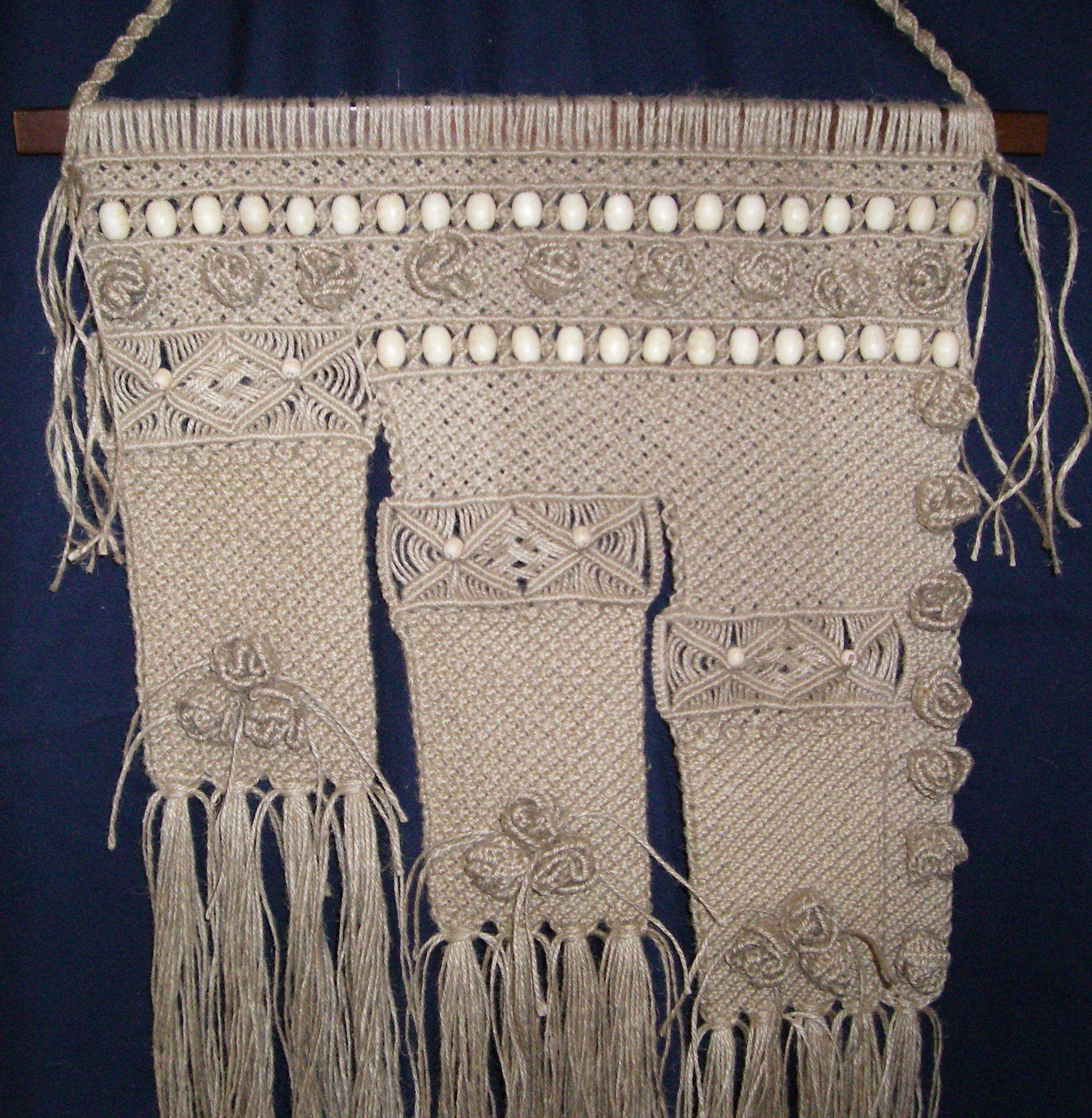 плетеное панно макраме
