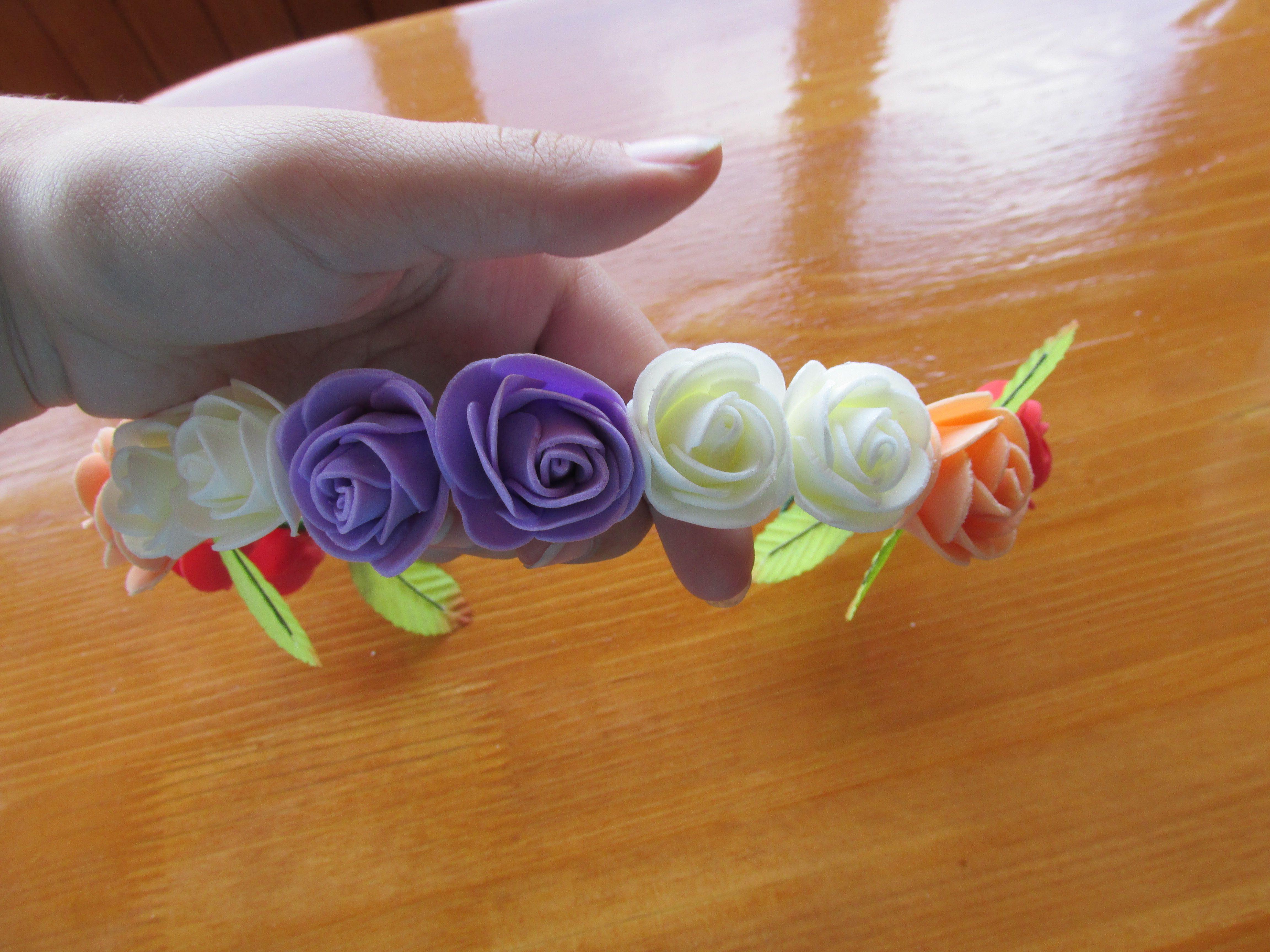 заказ голова ободок украшение искусственные лето цветы венок женщина