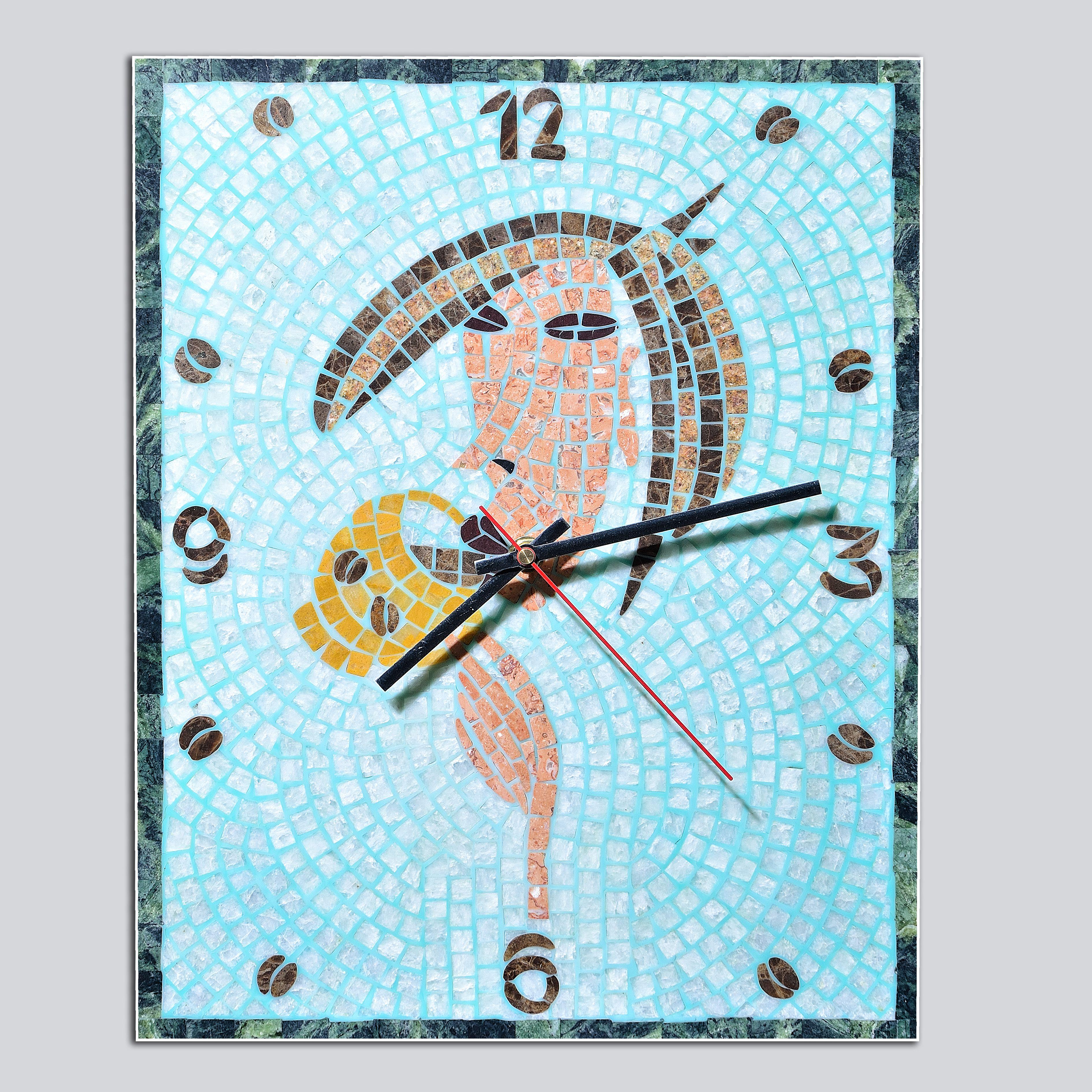 часы мозаика