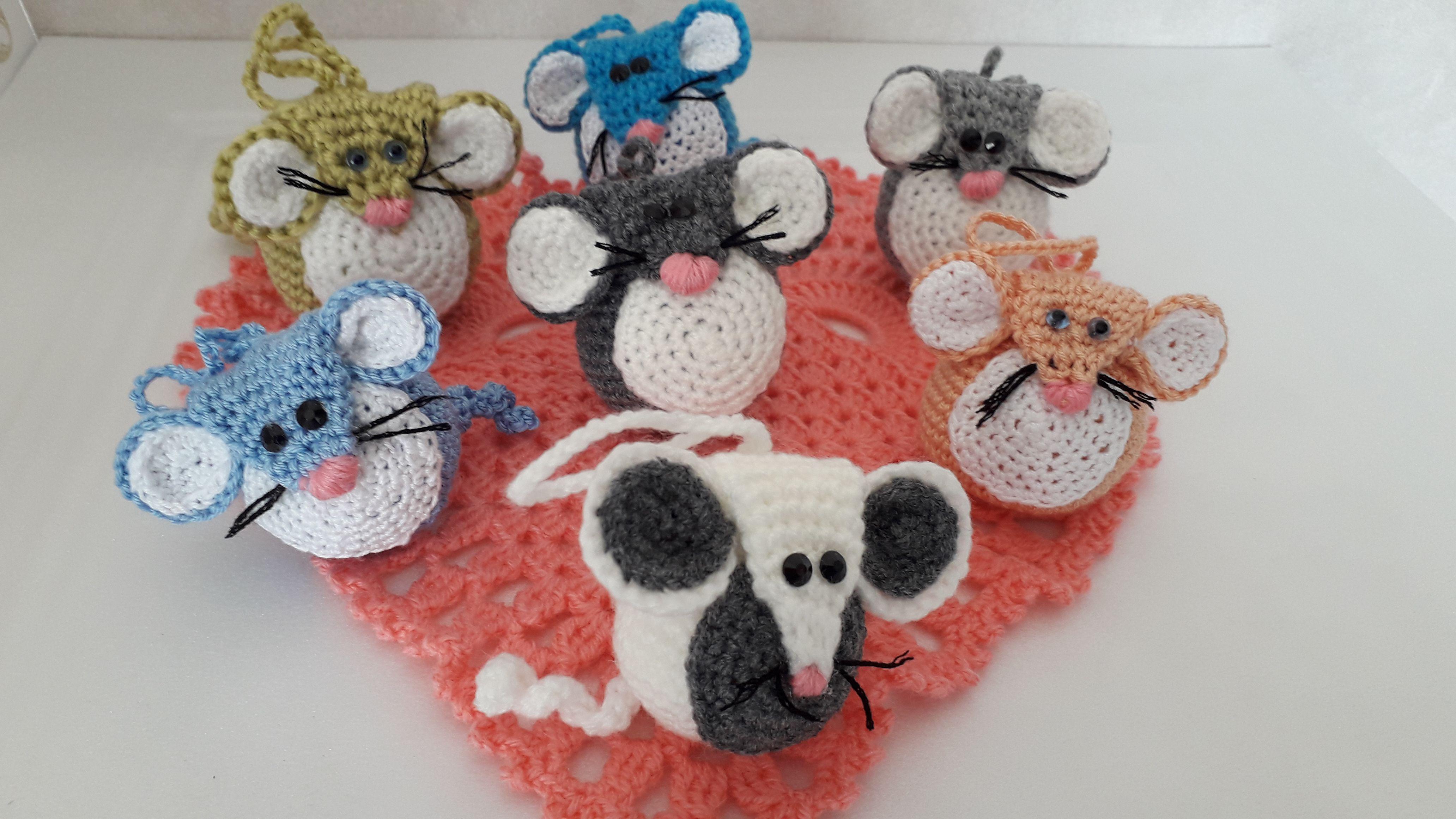 мышки символ2020 подарок крючок вязание новыйгод рождество игрушканаёлку брелок сувенир игрушка