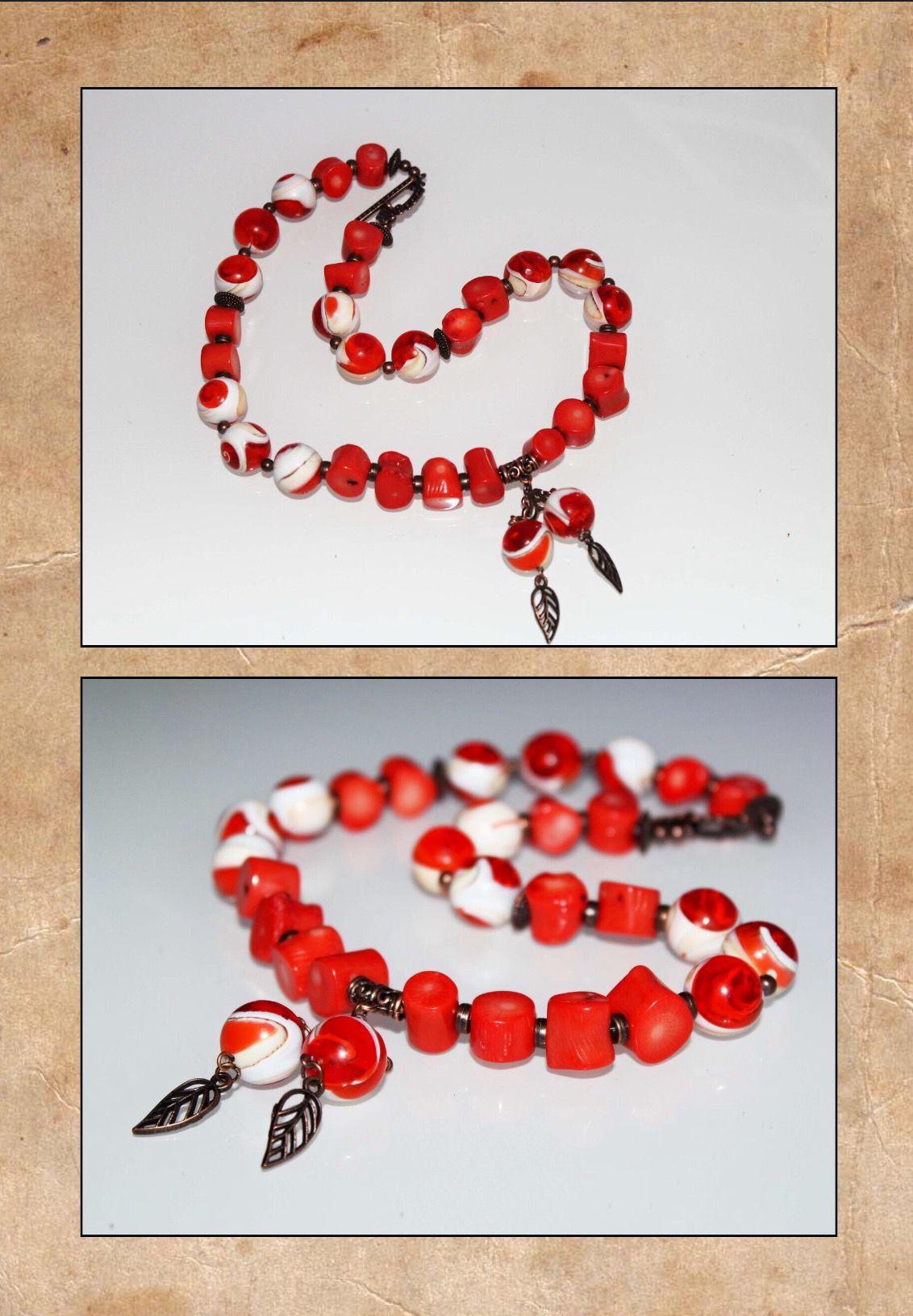 ручнаяработа дляженщин камни handmade украшения кораллы оранжевый натуральные медь