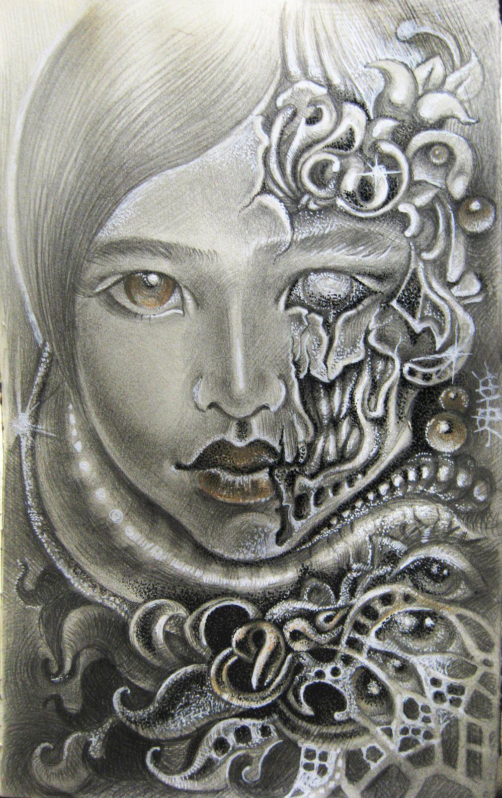 подарок картина рисунок девушка портрет