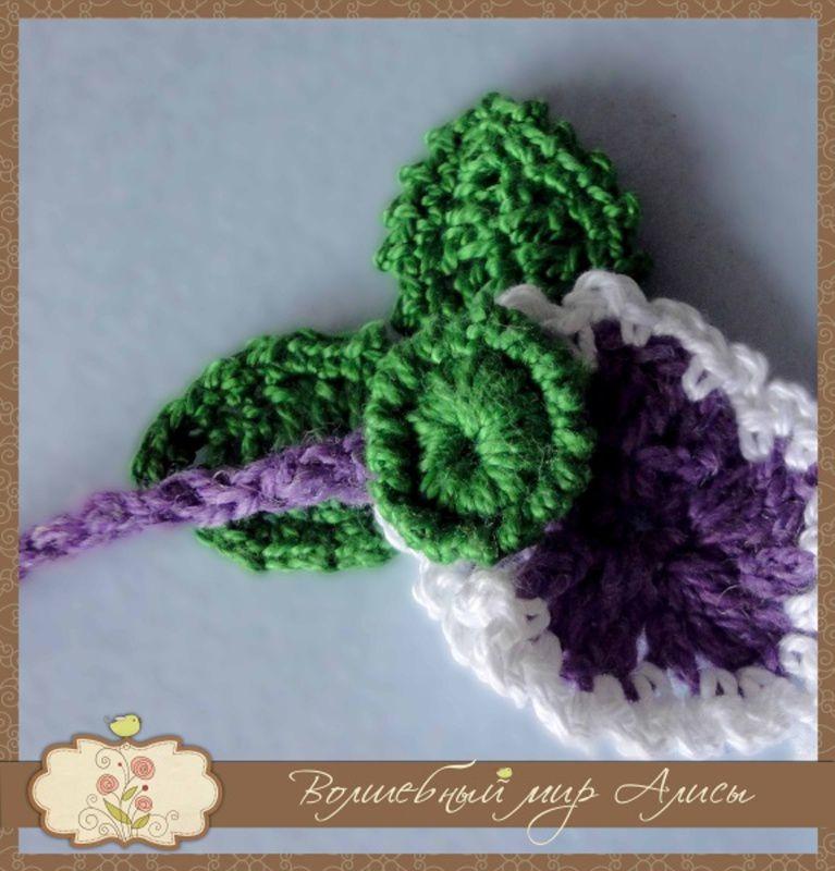 лист мотив анютины женщин глазки оригиальное девушек пуговица украшение вязание для пряжа крючком колье цветы