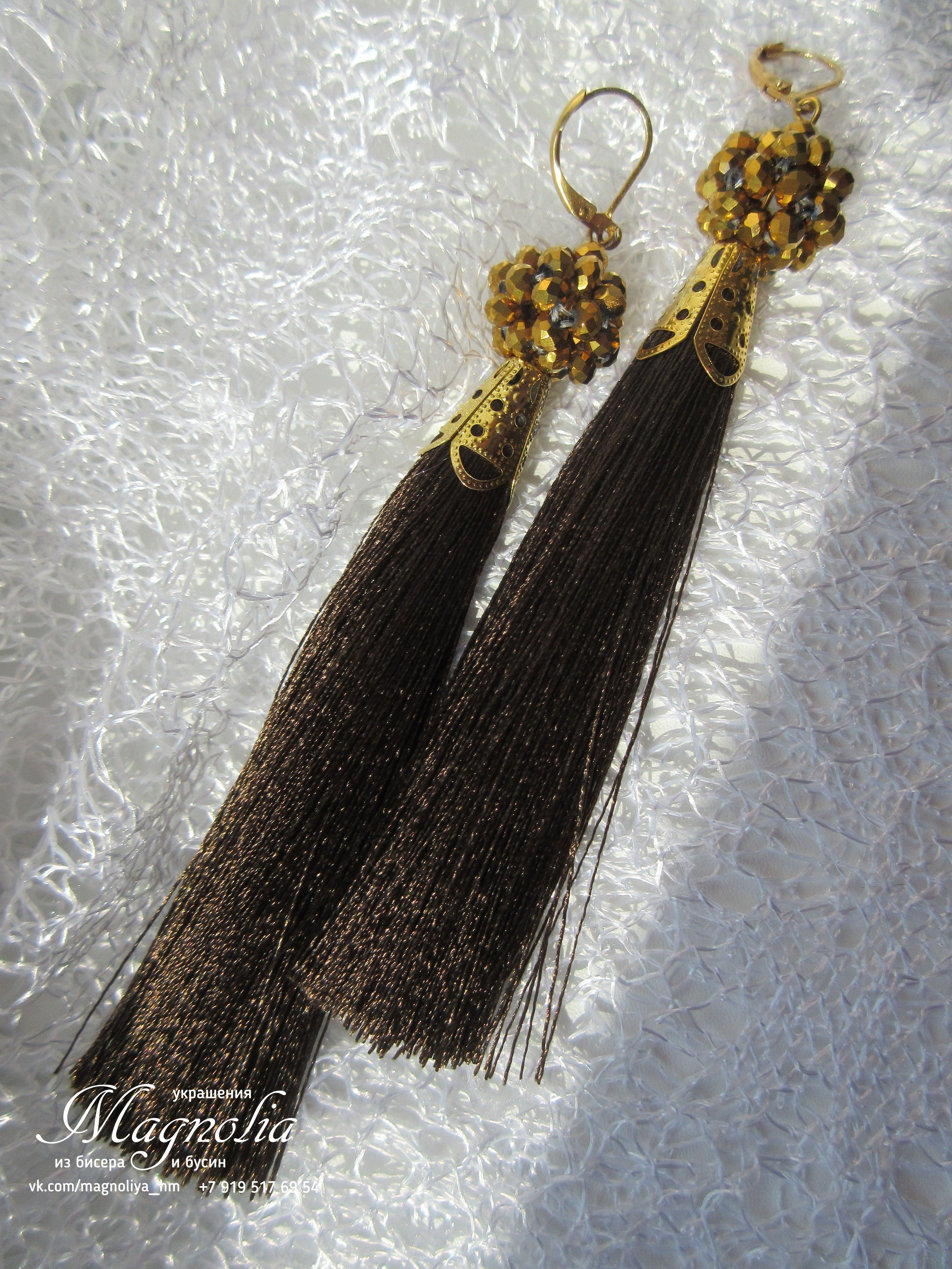 ручнаяработа серьги серьгикисточки magnoliyahm подарки украшенияручнойработы