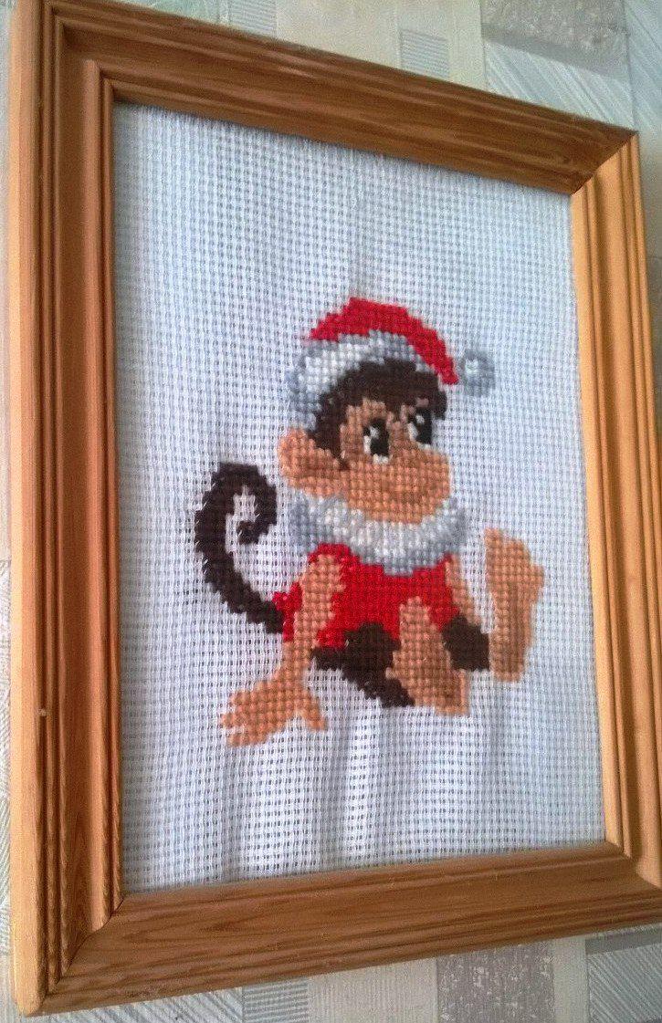 вышивка детское новый обезьяна символ год подарок