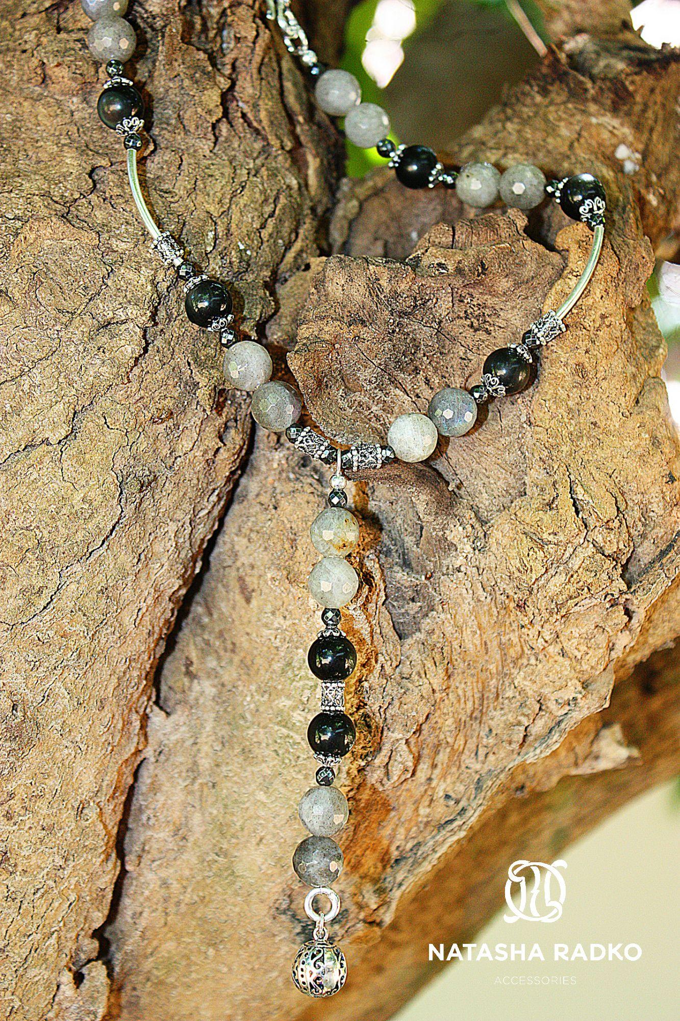 лабрадор глаз соколиный украшение серьги браслет набор натуральные ожерелье серебро камни подарок