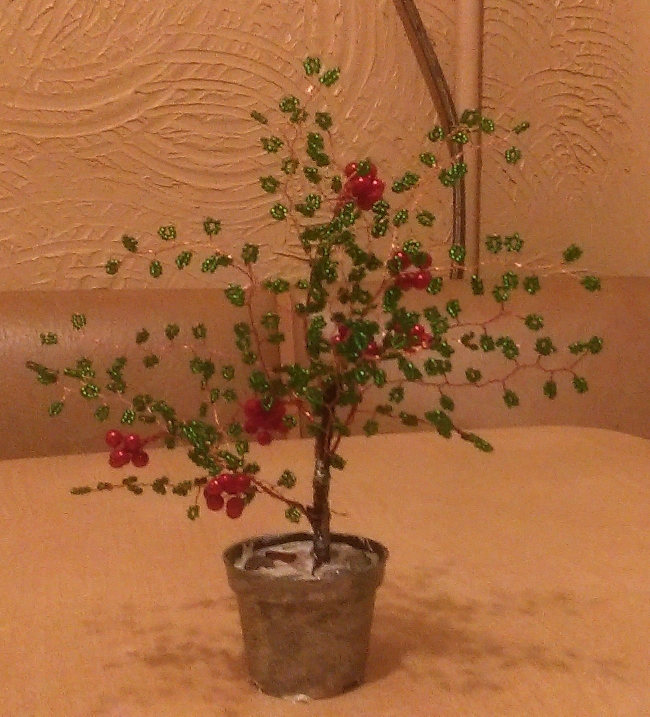 работы ручной прекрасный бисера из деревья подарок