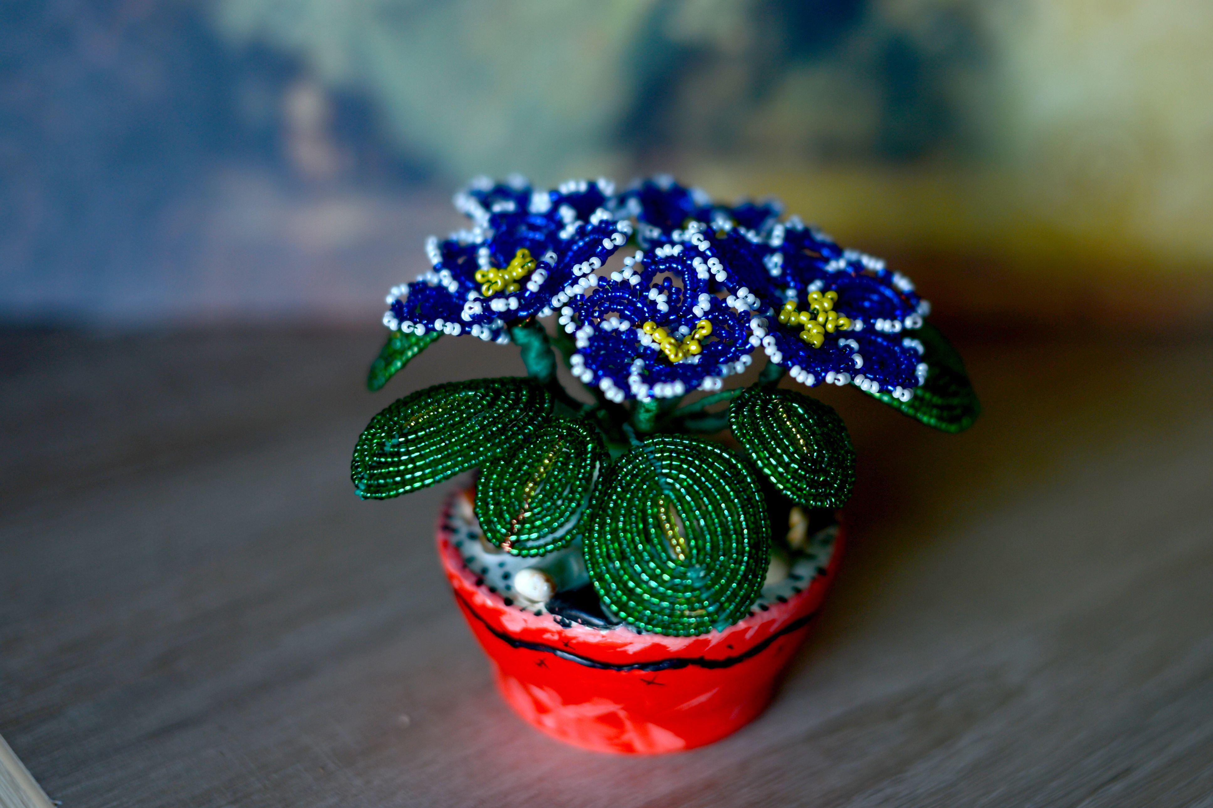 ручнаяработа подпрок бисер бисероплетение цветок handmade