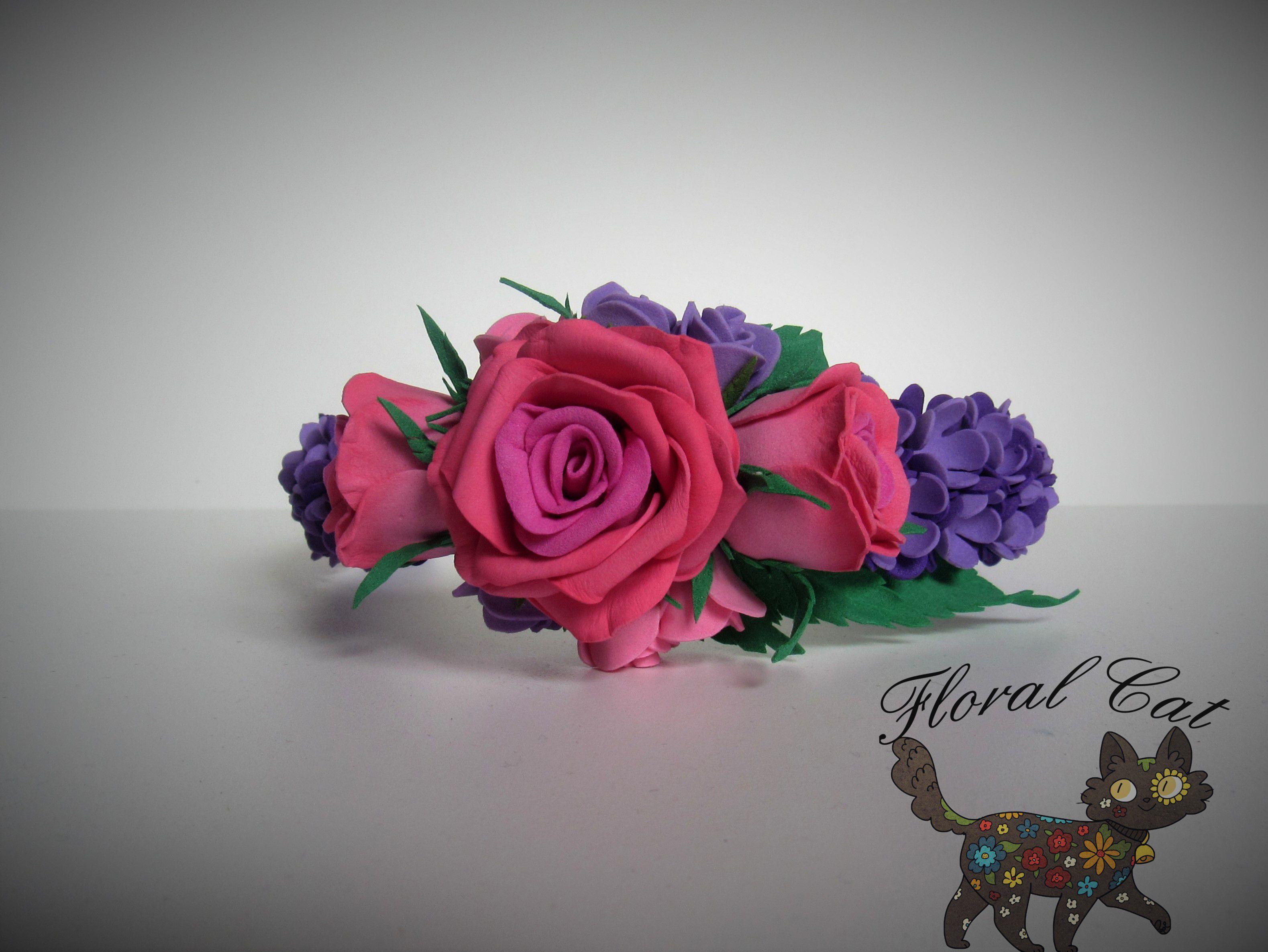из фоамирана ободок фоамиран розы цветы