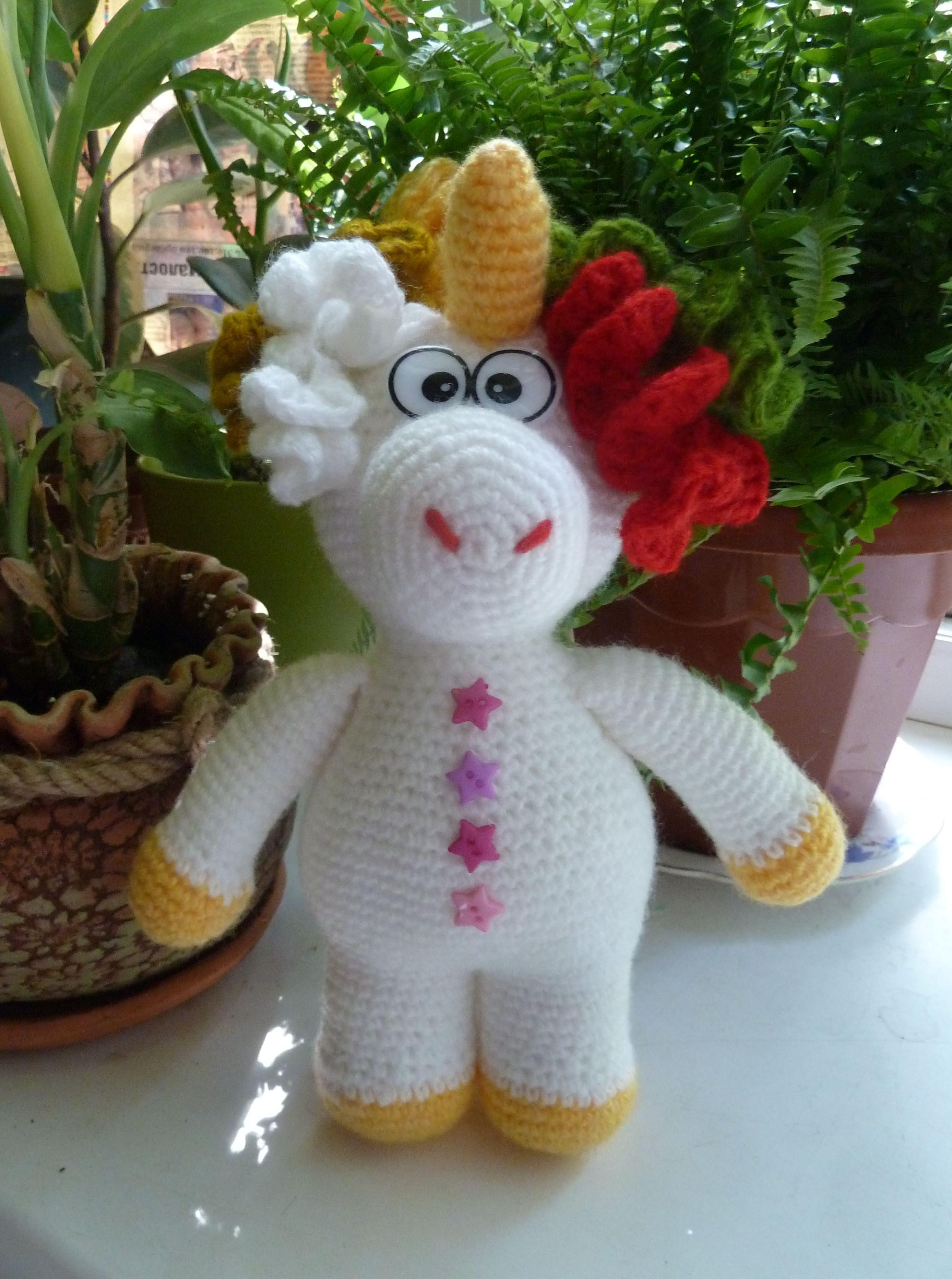 лошадка вязание единорог игрушки дети