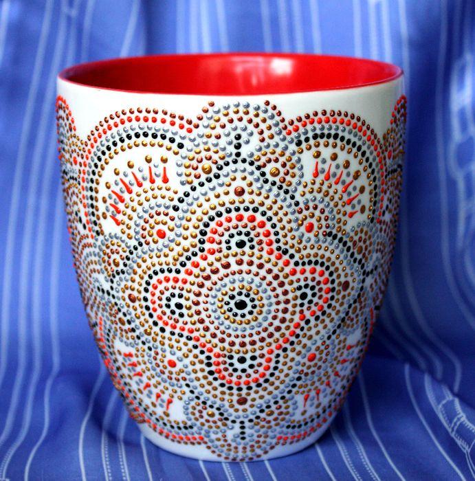 хендмейд хобби роспись чашка своимируками сделайсам идеяподарка креатив креативнаяидея стаканы росписьчашки техникаросписи точечнаяроспись кружка